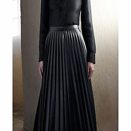 CELINE - 2013f/w leather pleated skirt