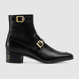 "GUCCI - Leather Boot with ""Sucker"""
