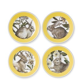 Williams-Sonoma - Yellow Banded Easter Salad Plates