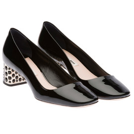 miu miu - Patent leather pump with Swarovski jewel heel