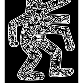 Keith Haring - Dog, 1985 Art Print
