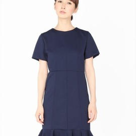 G.V.G.V. - FRILLED HEM H/S DRESS