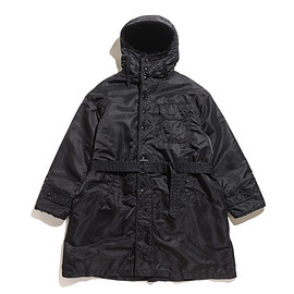 ENGINEERED GARMENTS - Coastline Parka-Flight Satin Nylon-Black