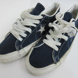 CONVERSE - ONE STAR  CANVAS  NAVY  MADE IN U.S.A.