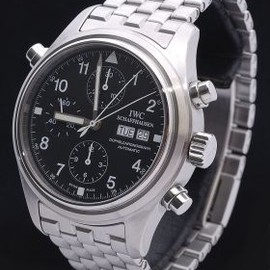 "IWC - IWC ""Doppel Chronograph"" in Steel 3713-19"