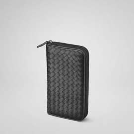 Bottega Veneta - Nero Intrecciato Nappa Zip Around Wallet
