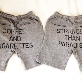 "WRIGHT - Sweat Short Pants ""COFFEE&CIGARETTES"" ""STRANGER THAN PARADISE"""