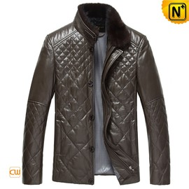 cwmalls - Fitted Quilted Leather Jacket for Men CW804078