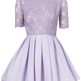 **Lace Mini Tee Dress By Richard Nicoll