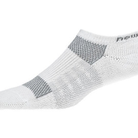 New Balance - No Show Coolmax® (2 pack), White with Grey