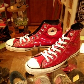 "converse - 「<used>90's converse ALLSTAR ENAMEL HI red""made in USA"" size:US9(27.5cm) 14800yen」販売中"