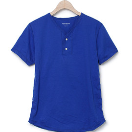 nonnative - DWELLER TEE HENLEY SS - COTTON JERSEY