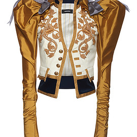 DSQUARED2 - SS2017 Heraldic Embroidery Puff Sleeve Jacket
