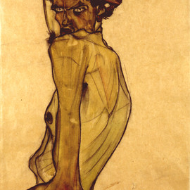 EGON SCHIELE - self portrait
