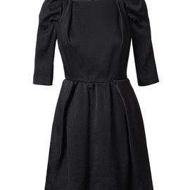 CARVEN - Black silk organza cocktail dress