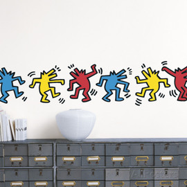Keith Haring - Untitled (Dancing Dogs) ウォールステッカー・壁用シール