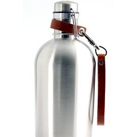 PEDAL HAPPY - Stainless Steel Growler & Leather Strap