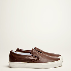 Vans Vault - Slip On Leather Coffee