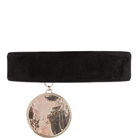 GIVENCHY - Gold-tone, suede and marble choker