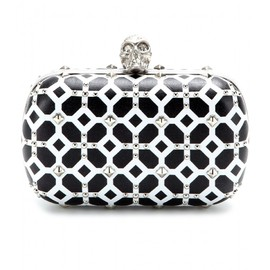Alexander McQueen - SKULL STUDDED LEATHER BOX CLUTCH