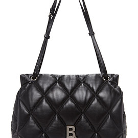 BALENCIAGA - Touch Embellished Quilted Leather Shoulder Bag(SS2020)