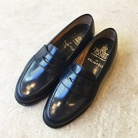 CROCKETT&JONES, HELIOPOLE - BOSTON ネイビーコードバン