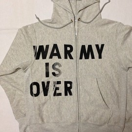 PATIOTS - WAR IS OVER hoody (customized U.S.ARMY sweat parka)