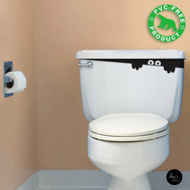 Hu2Design - Toilet Monster Bathroom Sticker