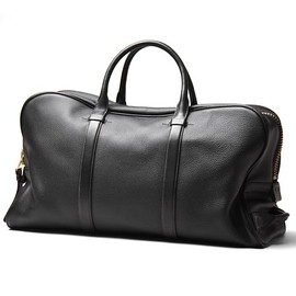 TOM FORD - Boston Bag Black Leather Zip