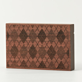 CEMENT PRODUCE DESIGN, Card Chest - argyle / walnut