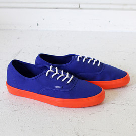 VANS - Authentic Lite - Surf the Web Blue/Neon Orange 01