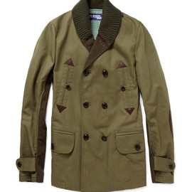 JUNYA WATANABE COMME des GARCONS MAN - ?Canvas Jacket with Plaid Back