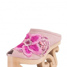 JEFFREY CAMPBELL - Jeffrey Campbell Shoes WEIR-FLR Mules & Clogs in Pink Combo