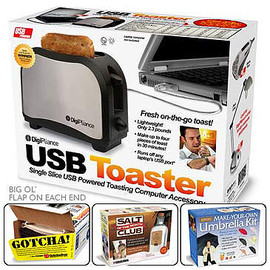 THE ONION - USB-POWERED TRAVEL TOASTER
