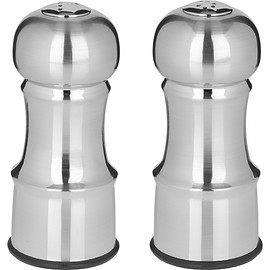 Trudeau - Stainless Steel Finish Salt and Pepper Shakers