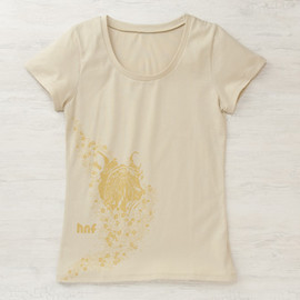 happy negative factory - Ladies T Shirts 花PUCCI/natural