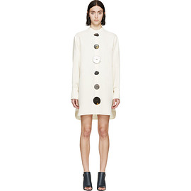 J.W. Anderson - Cream Oversized Shirt Dress
