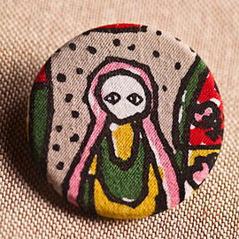 mina perhonen - mina perhonen ピンブローチ matryoshka pin brooch autumn/winter 2013 collection