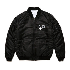 ELVIRA - MA-1 REVERSIBLE JACKET -BLACK×BLACK-