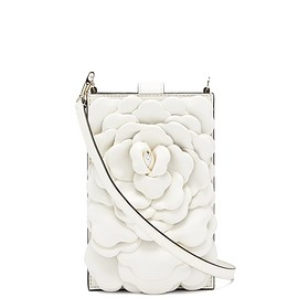 VALENTINO - Atelier petal-embellished leather crossbody pouch(FW2020)