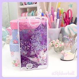 plamode - Glitter Star Galaxy case Purple