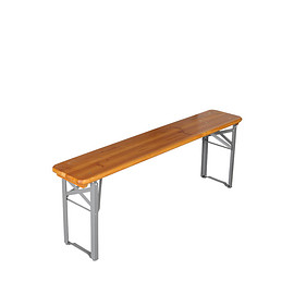 DULTON - BEER BENCH 130 SILVER