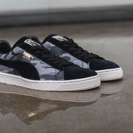 Puma - Suede (Camo Pack) - Black/Grey