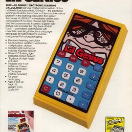 COLECO - LIL GENIUS ELECTRONIC LEARNING CALCULATOR