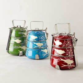 Anthropologie - Handpainted Tiffin Carrier