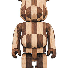 MEDICOM TOY - BE@RBRICK カリモク fragmentdesign 400% carved wooden - LONGITUDINAL CHESS