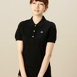 BEAUTY&YOUTH UNITED ARROWS - BEAUTY&YOBYBC LACOSTE ピケポロシャツ(ポロシャツ)|ブラック