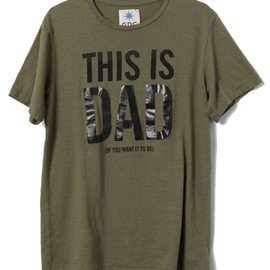 GDC - This is Dad Tshirt (Khaki×Black)