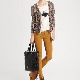 MARC BY MARC JACOBS - Georgie Tweed Cardigan + BAT T-shirt