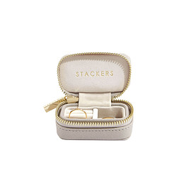 CLASSIC TRAVEL JEWELRY BOX TAUPE SMALL - STACKERS